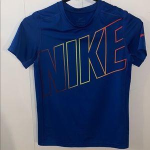 Boy size M blue Nike t shirt